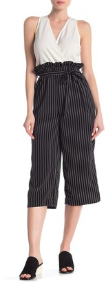 Just For Wraps Paperbag Waist Gaucho Jumpsuit