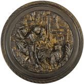 Rejuvenation Weathered Gold-Gilt Repousse Mirror c1880