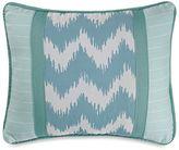 HiEnd Accents Catalina Chevron and Stripes Boudoir Throw Pillow in Aqua/White