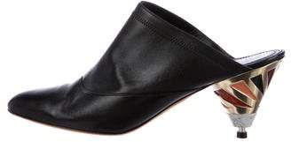 Givenchy Leather Pointed-Toe Mules