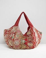 Raga Embroidered Shoulder Bag