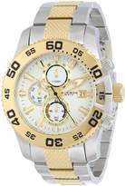 Akribos XXIV Men's AK655TTG Conqueror Chronograph Dial Silver-Tone and Gold-Tone Stainless Steel Bracelet Watch