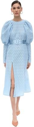Rotate by Birger Christensen Eyelet Lace Midi Dress