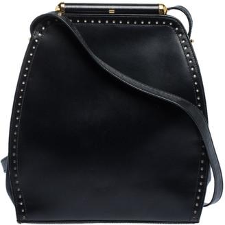 Escada Black Leather Crossbody Bag