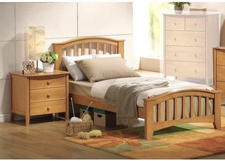 Simple Relax San Marino Full Kids Youth Bed With Matching Night Stand Drawers In Maple