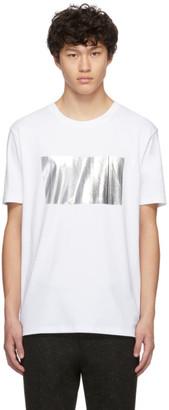 HUGO White Dalf Bar Logo T-Shirt