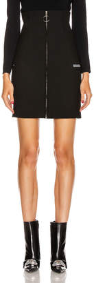 Off-White Off White Formal High Waist Skirt in Black | FWRD