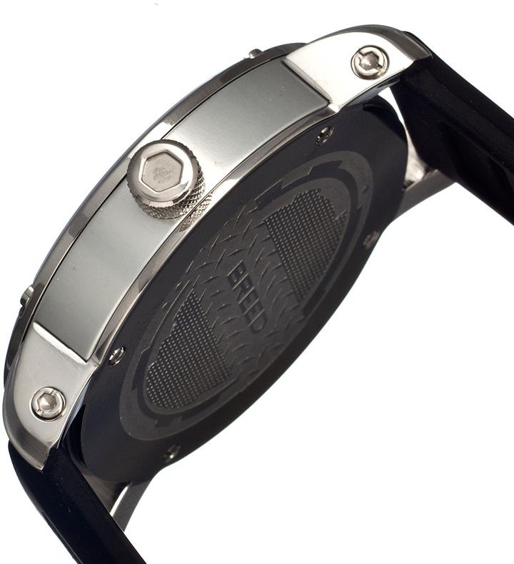 Breed Zigfield Men's Black Silver-Tone