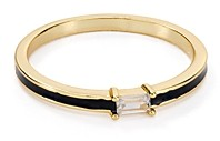Argentovivo Thin Enamel Ring in 18K Gold-Plated Sterling Silver