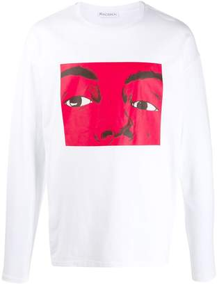J.W.Anderson graphic print long-sleeved T-shirt