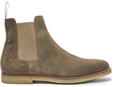 Common Projects Chelsea Suede Boots in Taupe