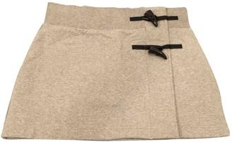 Burberry Grey Cotton Skirt for Women