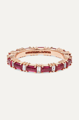 Suzanne Kalan 18-karat Rose Gold, Ruby And Diamond Ring