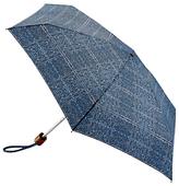 Fulton Tiny Tweed Folding Umbrella, Blue