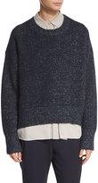 Vince Knit Drop-Shoulder Pullover Sweater, Blue