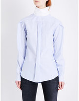 R 13 Backward striped cotton shirt