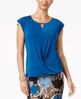 Thalia Sodi Draped Embellished Top, Only at Macy's