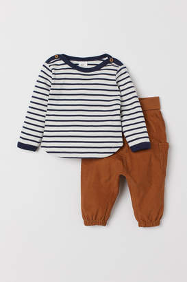 H&M Cotton Top and Pants