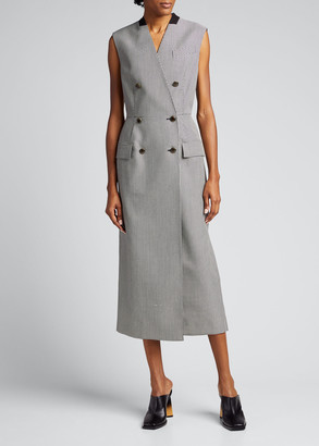 Givenchy Houndstooth Techno Wool Peplum Jacket
