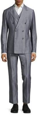 Dolce & Gabbana Regular Fit Three-Piece Pinstripe Suit