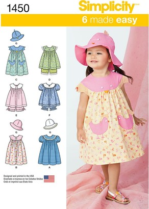 Simplicity Children's Dress Sewing Pattern, 1450