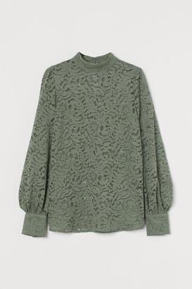 H&M Lace Blouse - Green