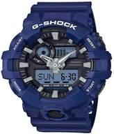 G-Shock G Shock Black Shock Resistant Blue Strap Watch