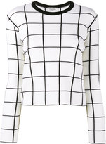 Valentino grid intarsia jumper - women - Virgin Wool - S