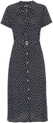 Polka-dot midi shirt dress