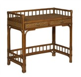 The Well Appointed House Rattan Writing Desk in Variety Colors
