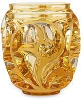 Lalique Tourbillons Small Amber Vase
