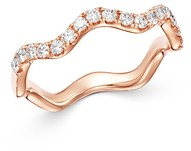Bloomingdale's Diamond Wavy Stack Ring in 14K Rose Gold, 0.35 ct. t.w. - 100% Exclusive