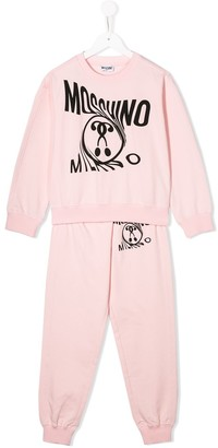 MOSCHINO BAMBINO Logo Printed Sweatshirt Tracksuit Set