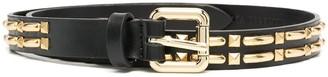 Alberta Ferretti Gold-Studded Skinny Belt