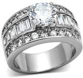 Bellux Style 5.2 Carats Russian CZ 3 in 1 Stacked Bridal Wedding Ring Set