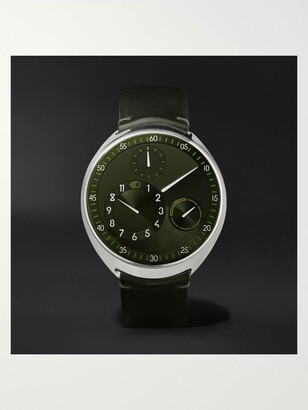 Ressence - Type 1 Slim X Limited Edition Automatic 41.5mm Grade 5 Titanium and Leather Watch - Men - Green
