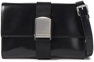 McQ Christine Deluxe Buckle-detailed Leather Shoulder Bag