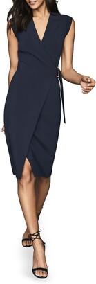 Reiss Gabrielle Knit Wrap Dress