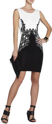 BCBGMAXAZRIA Jenn Lace Jacquard Dress