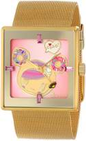 Tokidoki EOS NEWYORK EOS Women's TDW303SGOLD Donutella Gold Stainless Steel Mesh Watch