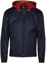 Gucci Midnight Blue Monogrammed Shell Jacket
