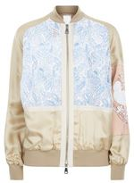 No.21 Broderie Anglaise Insert Bomber Jacket