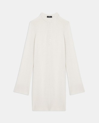 Theory Henley Dress in Cashmere
