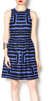 4.collective Black and Blue Pleated Dress
