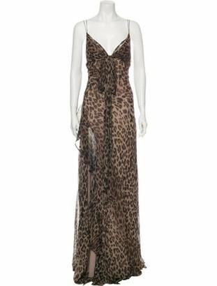Nicholas Silk Long Dress Brown