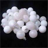 Asstd National Brand 60 Ct 2.5 Winter White Shatterproof 4-Finish Christmas Ball Ornaments