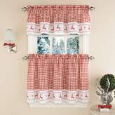 Lorraine Home Fashions 00431-V-00148 Reindeer Check Window Curtain Tailored Valance