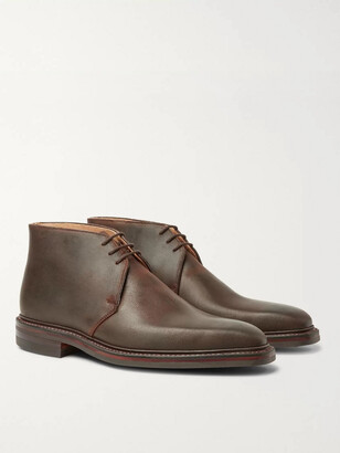 George Cleverley Nathan Distressed Leather Chukka Boots