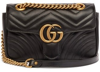 Gucci GG Marmont Mini Quilted-leather Cross-body Bag - Womens - Black