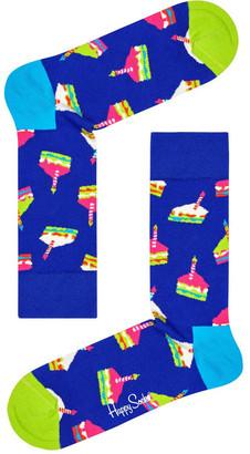 Happy Socks Bday Cake Crew Sock